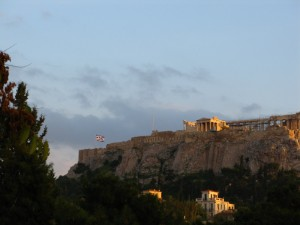 The Acropolis, as the sun sets