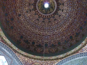 Fancy domed ceiling in the Hamam.