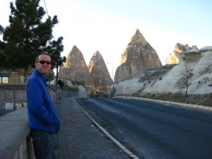 Scott checking out the fairy chimneys.