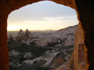View from the cave church.