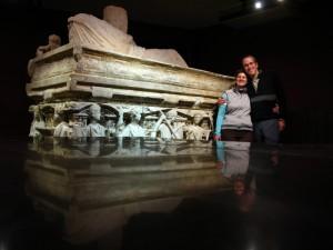 Interesting Roman sarcophagus
