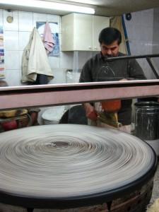 Spinning dough for Kufeke