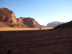 Scott returning from his walk in the desert