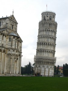The Leaning Tower - yep, it's not just an optical illusion