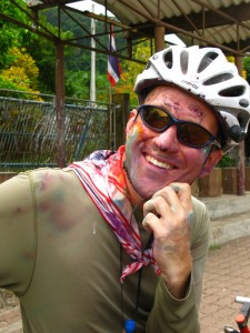 Scott wearing multiple colours, later in the day