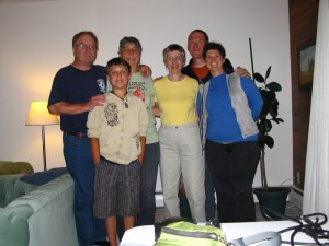 Karen and two of her god-families