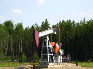 Our first oil derrick