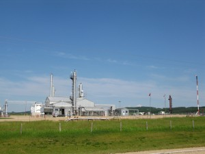 Another Sour Gas facility - note the windsock