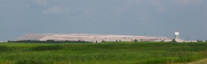 Potash tailings dominating the skyline